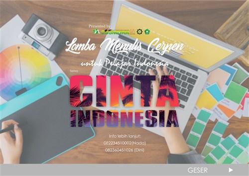 Lomba Menulis Cerpen Untuk Pelajar Indonesia Cinta Indonesia