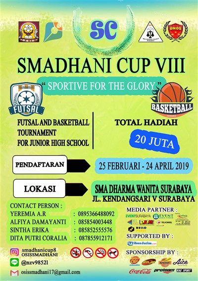 "Smadhani Cup VIII ""Sportive for The Glory"""