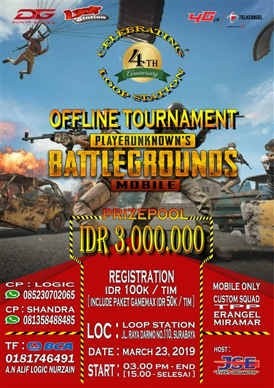 Celebrating 4th Loop Station Anniversary : Offline Tournament PUBG Mobile