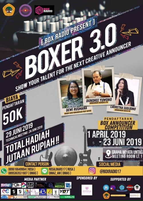 """BOXER 3.0 """"Show Your Talent For The Next Creative Announcer"""""""