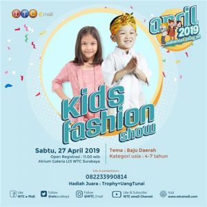 April 2019 Millenial Play On : Kid Fashion Show