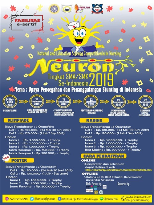 """NEURON 2019 """"Natural and Educational Science Competition In Nursing"""""""