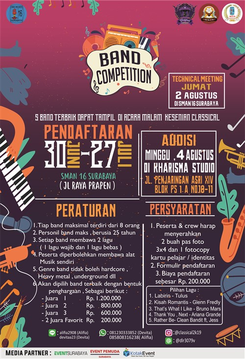 CLASSICAL2k19: Band Competition