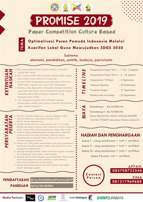 """Promise 2019 """"Paper Competition Culture Based"""""""