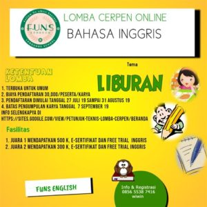 Lomba Cerpen Online Bahasa Inggris