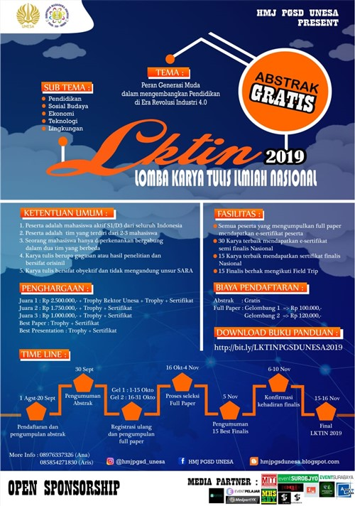 """LKTIN 2019 """"Lomba Karya Tulis Ilmiah Nasional"""""""