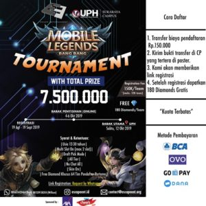 "Mobile Legends Tournament ""Bang Bang"""