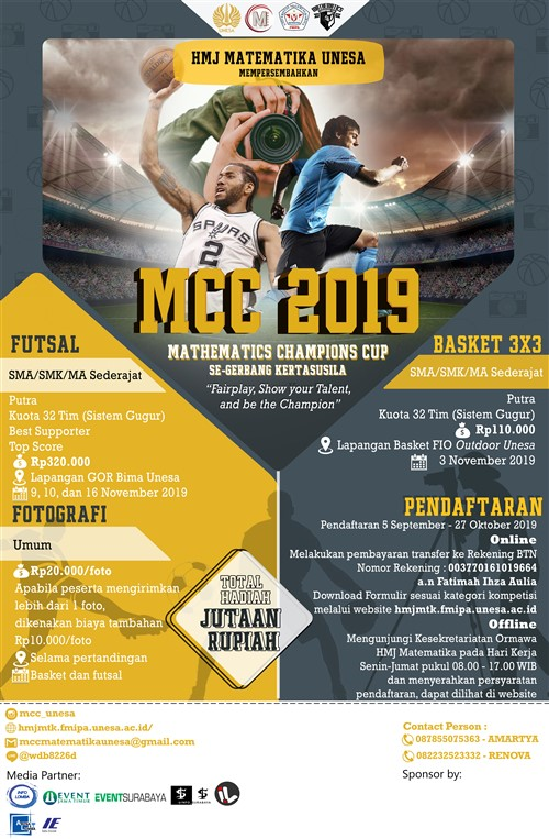 """MCC 2K19""""Fairplay, Show Your Talent, and Be The Champion"""""""