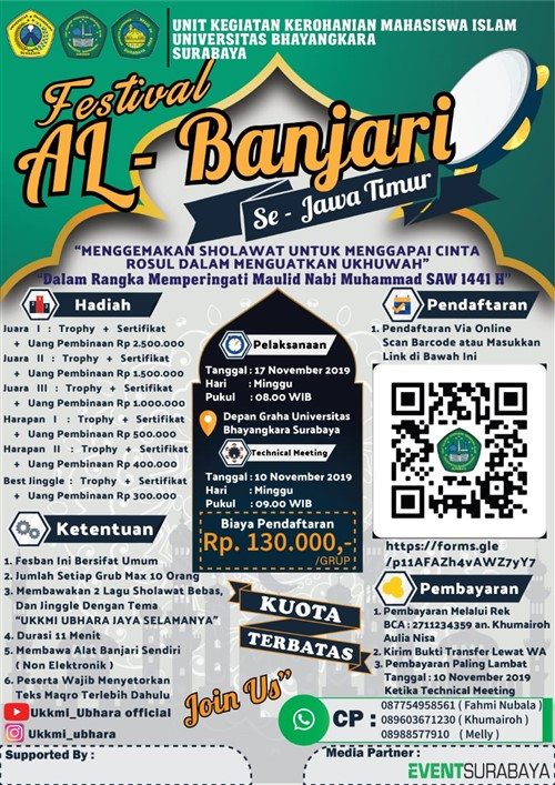 Festival Al-Banjari Dalam Rangka Maulid Nabi Muhammad SAW 1441 H