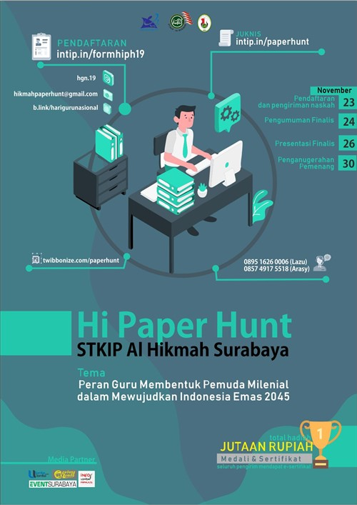 """""""Hi-Paper Hunt"""" 2019 Ajang Kompetisi Esai bagi siswa SMP & SMA Tingkat Nasional"""