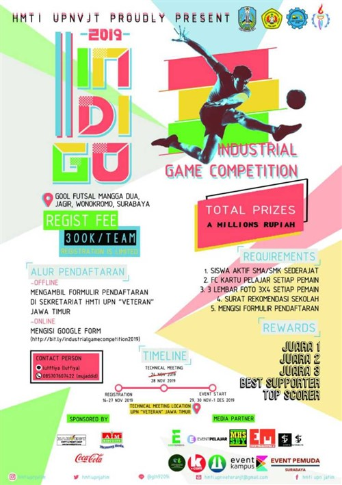 Industrial Engineering Game Competition, FUTSAL (SMA/SMK/MA Jawa Timur)