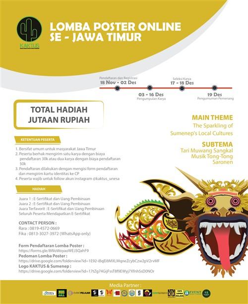 Lomba Poster Online Se – Jawa Timur KAKTUS 2K19