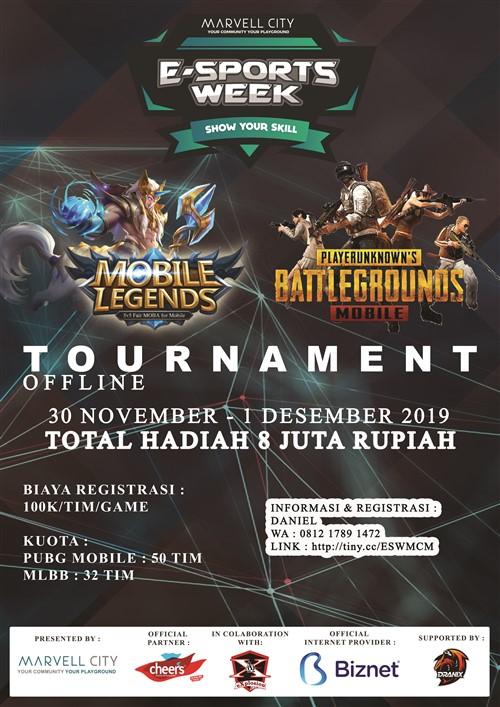 Marvell City E-Sports Week 2019 : PUBG Mobile & Mobile Legends Tournament
