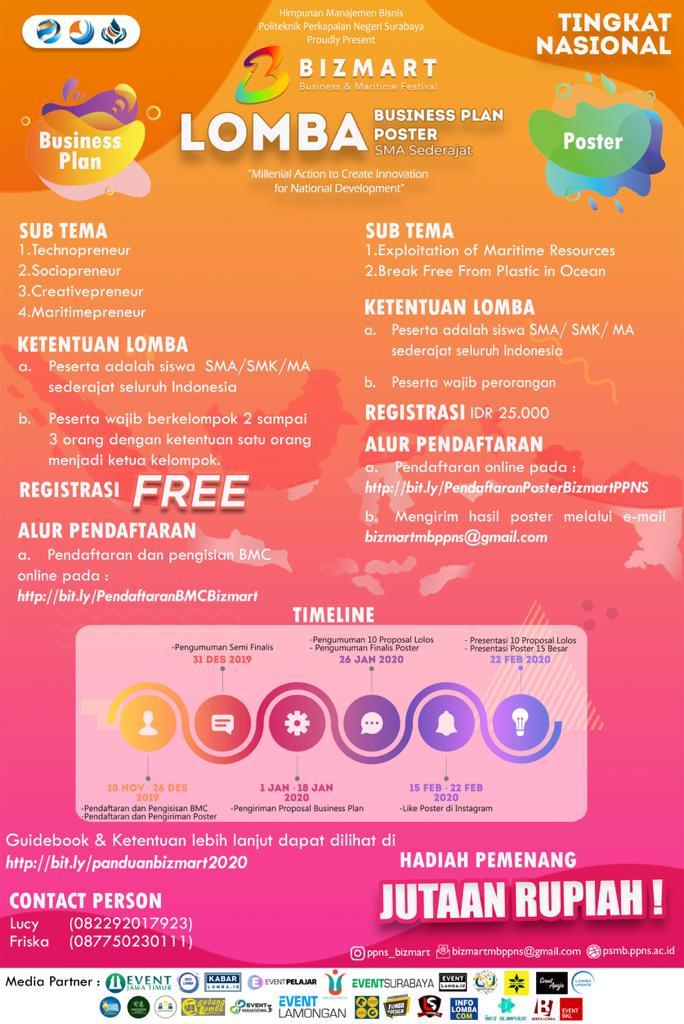 "BUSINESS AND MARITIME FESTIVAL (BIZMART) 1.0 ""Millenial Action to Create Innovation for National Development"""