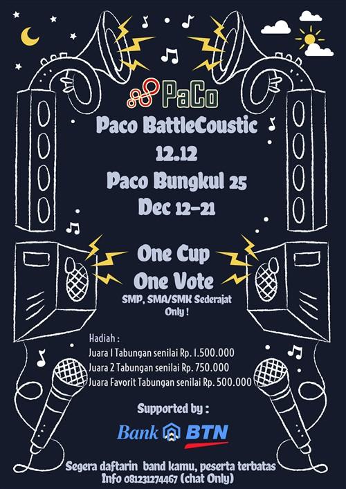 Paco Battle Coustic 12.12