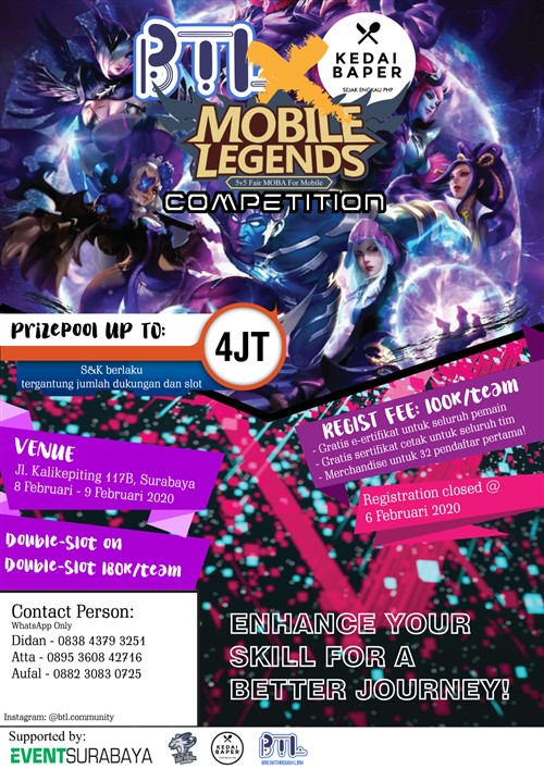 BTL Competition 2.0 : Mobile Legend Competition
