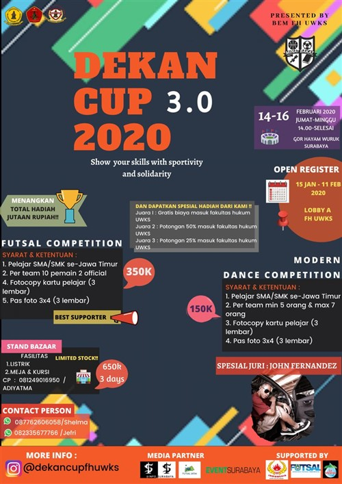 DekanCup 3.0 : Show your skills with sportivity and solidarity