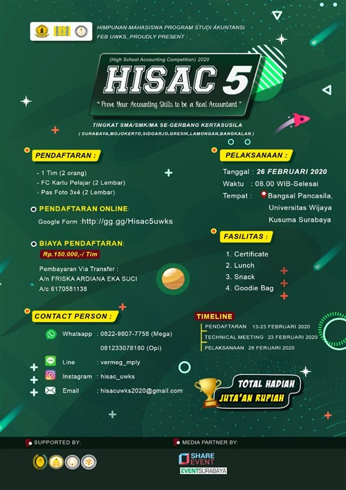 HISAC 5, High School Accounting Competition 2020
