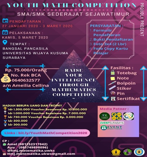 """Youth Math Competition """"Raise Your Intelligence Through Mathematics Competition"""""""