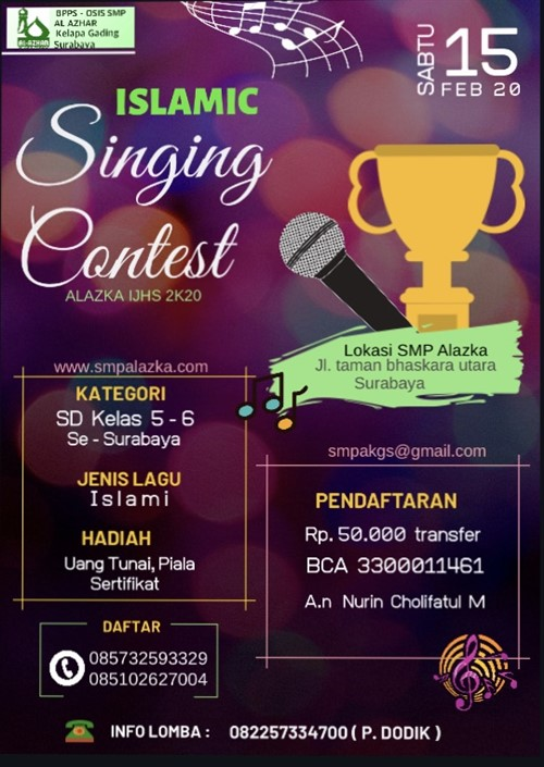 Islamic Singing Contest Alazka IJHS 2K20