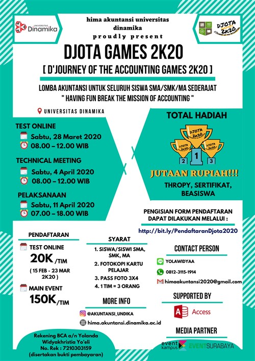 D'Journey Of The Accounting Games 2K20 (D'Jota Games 2K20)