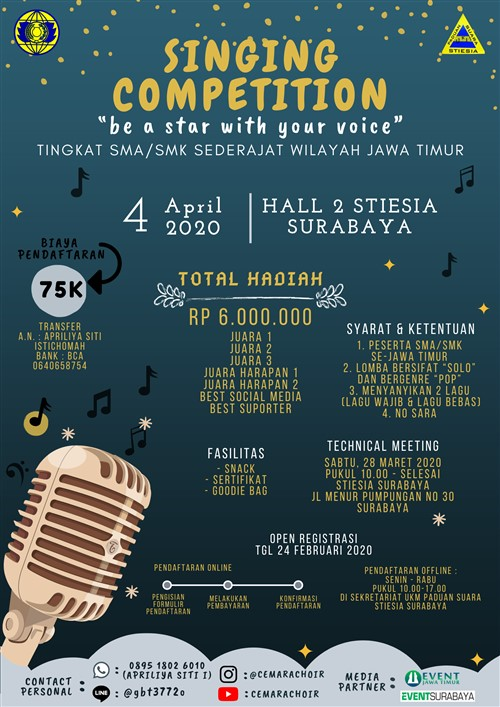 "Singing Competition 2020 ""be a star with your voice"""