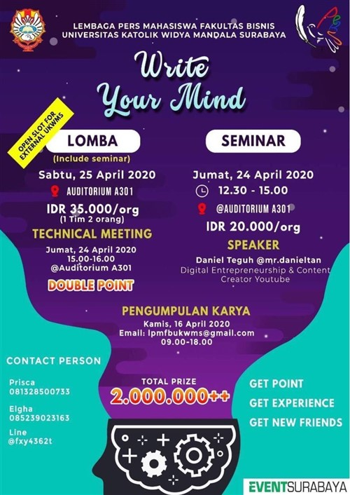 Write Your Mind Essai Competition