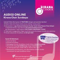 Audisi Online Kirana Choir 2020