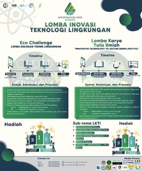 ENVIRONATION 2020 : Lomba Inovasi Teknologi Lingkungan