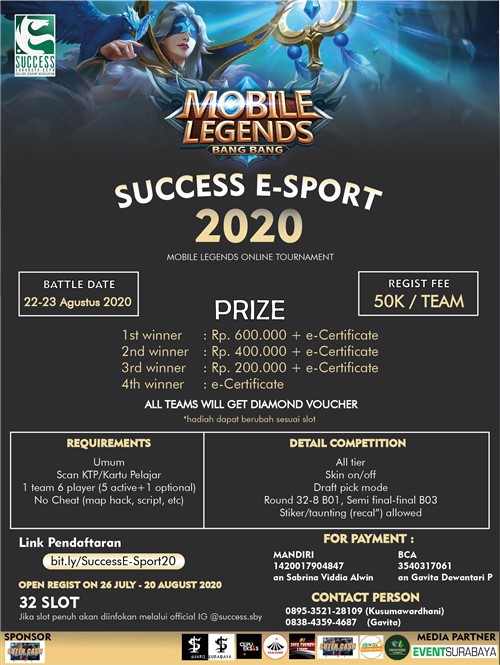SUCCESS E-SPORT 2020 Mobile Legends Online Tournament