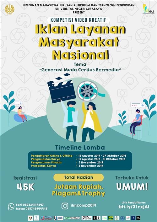 Kompetisi Video Kreatif Iklan Layanan Masyarakat Nasional